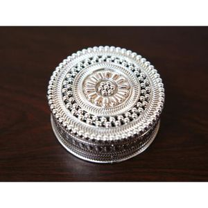 BOÎTE À DRAGÉES 50 mini boîtes à dragées métallisés rondes orienta