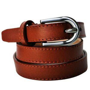 8de7ae918094 CEINTURE ET BOUCLE ceinture en cuir de vachette épaisseur 1,8cm femme ...