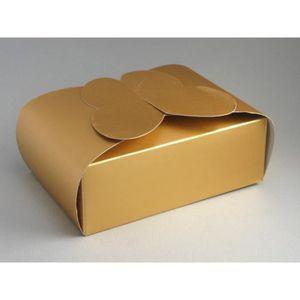 BOÎTE À DRAGÉES 25 boîtes à gâteaux papillon métallisé mariage (or