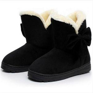Bottine Femme Hiver Comfortable Peluche Durable Boots CHT-XZ014Marron-42 tc1EsQ