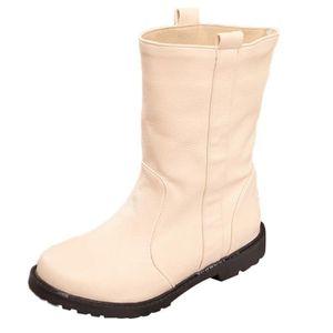 BOTTE Femmes Bottes chaud plat avec des chaussures en co