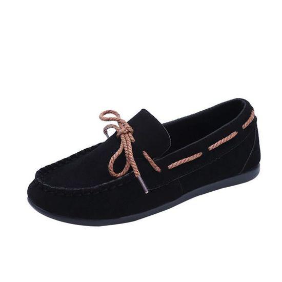 Fashion Femmes Round Head Slip-on Non-slip Sole Casual Shoes Lazy Shoes Peas Shoe Noir_XZ*5503 Noir Noir - Achat / Vente slip-on