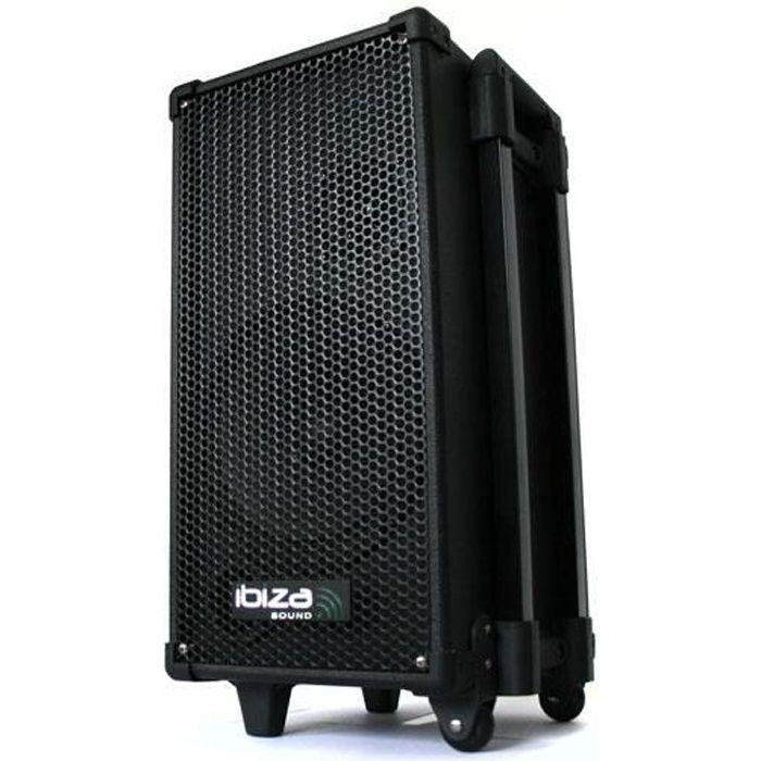 IBIZA SOUND PORT8MINI Système de sonorisation portable & karaoké avec lecteur CD/USB/MP3