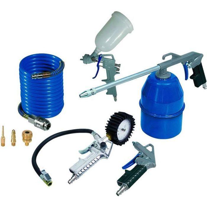 MICHELIN Kit de 8 accessoires pour tout compresseur sur cuve gris 6018780200