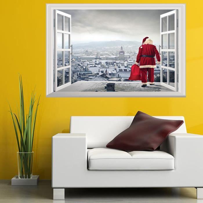 OBJET DÉCORATIF Noël fenêtre de vacances 3D autocollants muraux dé