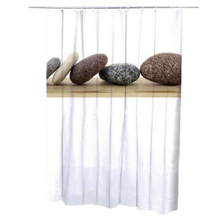 Creative dressing Porte Rideaux Rideaux de douche imperméable à l ...