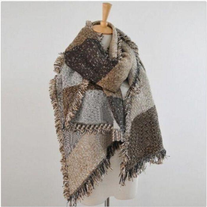 146231531656 Épais de hiver nouvelles femmes laine chaude Stole Pashmina Écharpes  Cachemire Wraps Châle