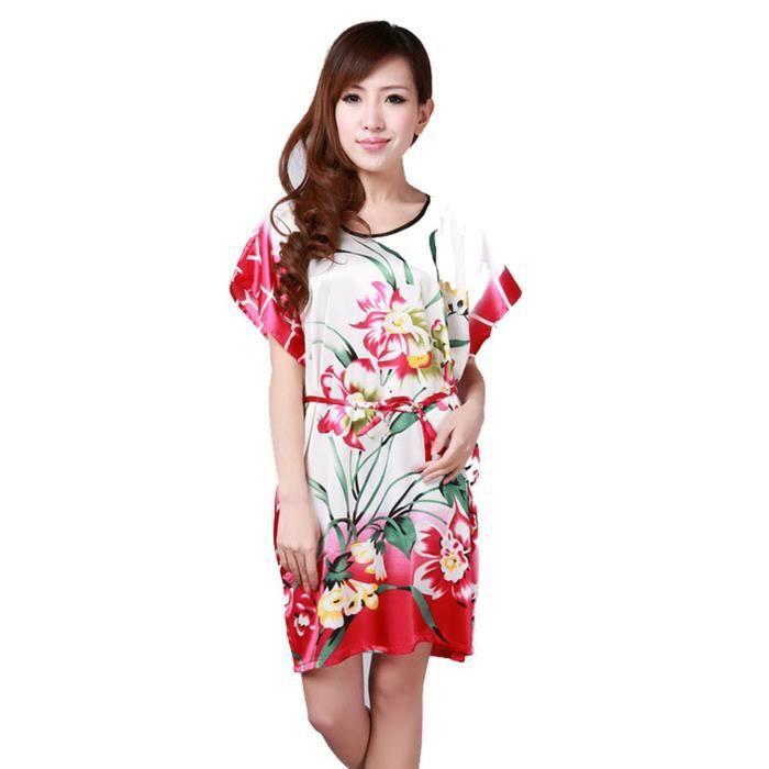 prix compétitif 1336e 452d9 Eté Pyjama Femmes Vêtement/Chemise de Nuit Belle Robe de Nuit Robe de  Chambre Blanc