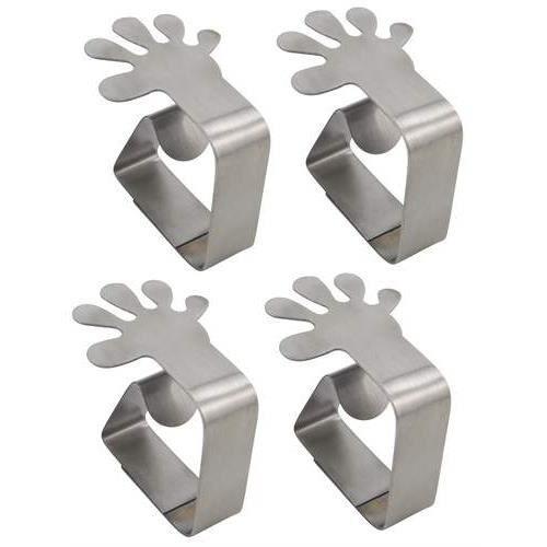 Les 4 pinces nappe design en inox forme main - Achat / Vente poids ...