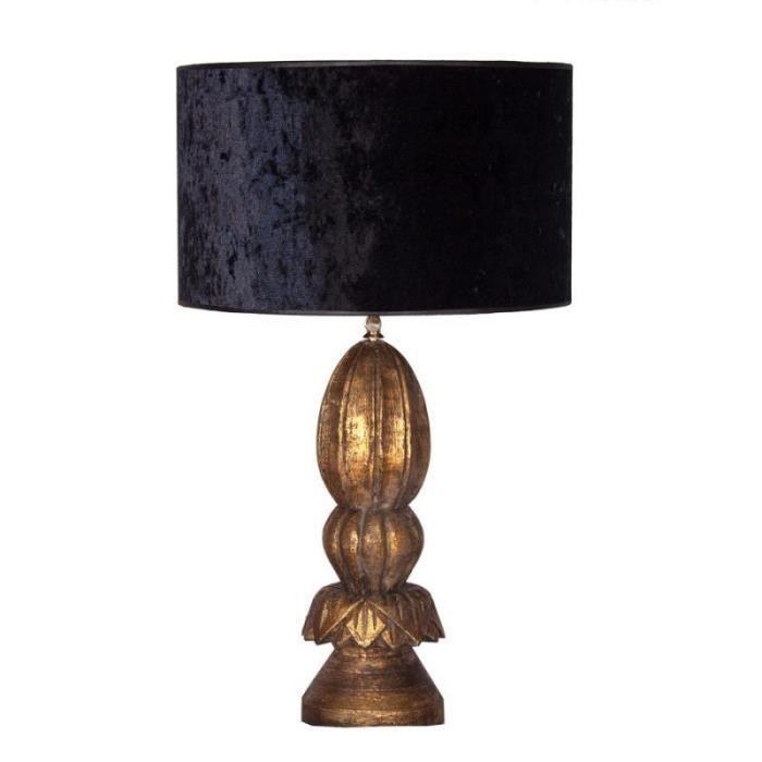 Lampe Achat Noir Baroque Craquelée Et Abat Velours Chic Or Jour ul1J3FKTc