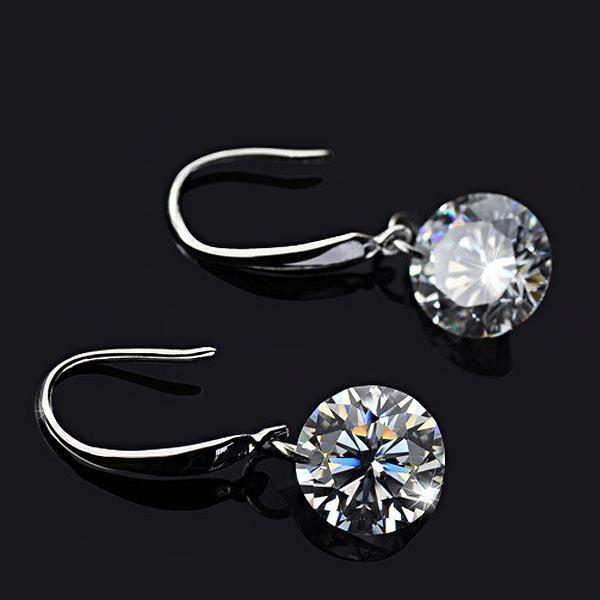 boucles d 39 oreilles femme cristal de diamant 9mm mode oreille pendentifs une paire achat. Black Bedroom Furniture Sets. Home Design Ideas