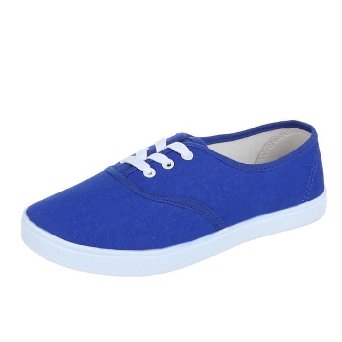 Chaussures femmes sneakers Derbies Basket bleu