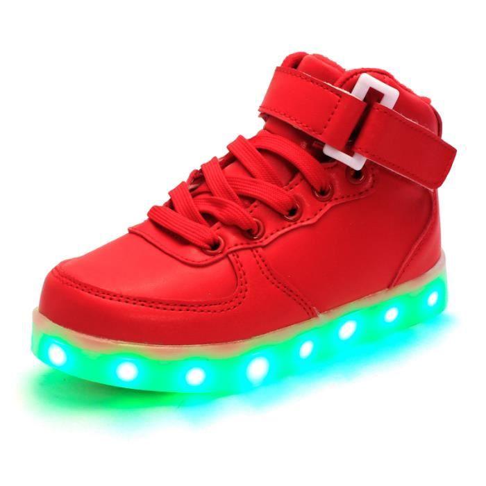 Chaussures LED pour enfants USB Charge lumineuse LED Mode Coloré Glow baskets