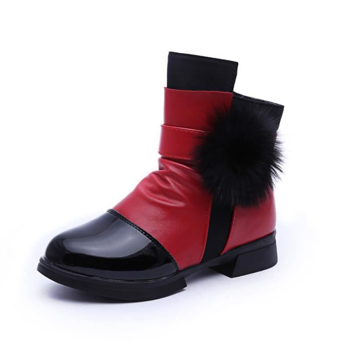 Mode Bottes Haute Bottine Cuir Enfants Chaussures Fille wvqRA