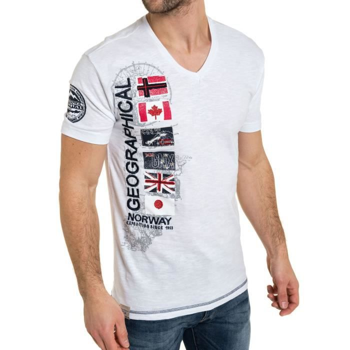 pas Vente Achat geographical Tee norway cher shirt pCqBXB