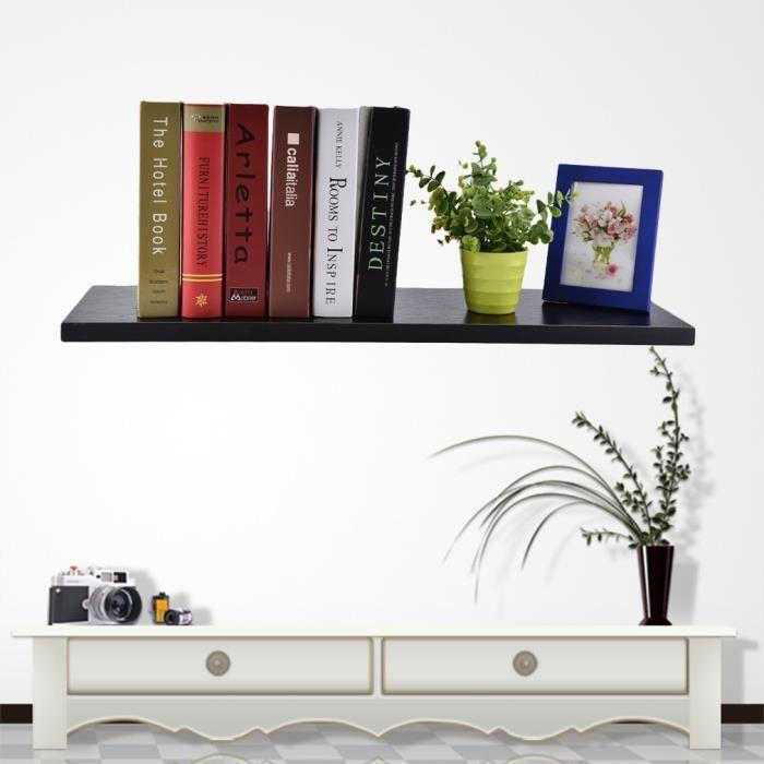 80cm étagère Murale Tablette Murale Solide Bois Pour Livres