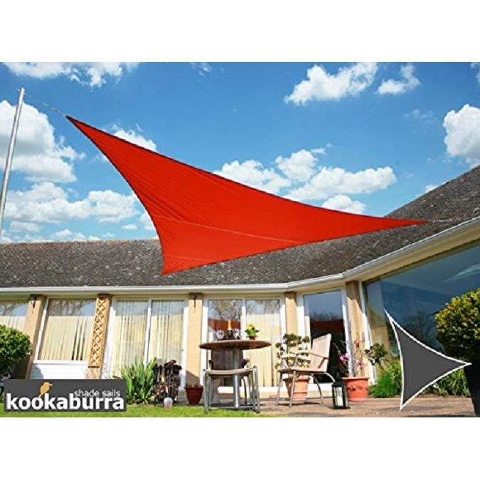 Voile d\'Ombrage Rouge Triangle 5m - Imperméable - 160g/m2 ...
