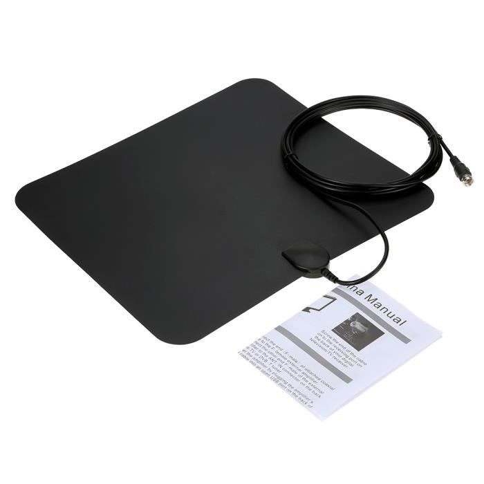 Flat TV HD Amplified numérique intérieure TVHD Antenne High Gain 50 Miles Plage ATSC DVB ISDB avec détachables Amplificateur de