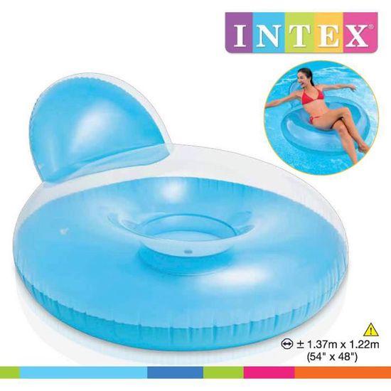 Intex Fauteuil De Piscine Gonflable Adulte Glossy 137 X 122 Cm