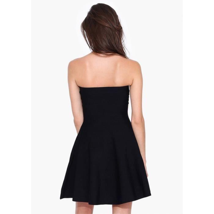 7b310863b3f Robe de soirée mariage élégant épaules nues femmes Sexy noir ...
