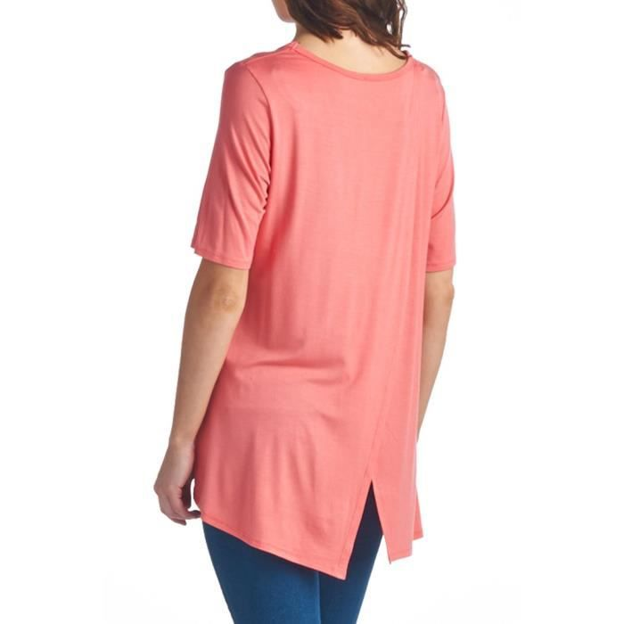 Span Prints Taille Tunic Of Various amp; Women's Beautify Solid Jersey Rayon Yak5x 34 Styles 4qvx57w