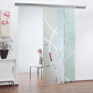 porte coulissante porte intrieure coulissante en verre 88 x 203 cm