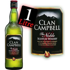 WHISKY BOURBON SCOTCH Clan Campbell The Noble 1L 40°