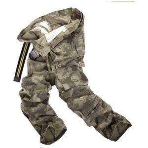 e16c1ac1b83 PANTALON Pantalon Cargo Homme Imprimé Camouflage Avec Multi
