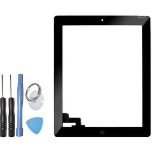 DALLE D'ÉCRAN Vitre ecran tactile iPad 2noir, bouton et adhésif