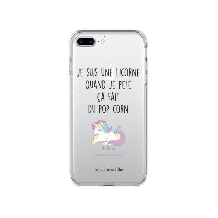coque iphone 8 pop corn