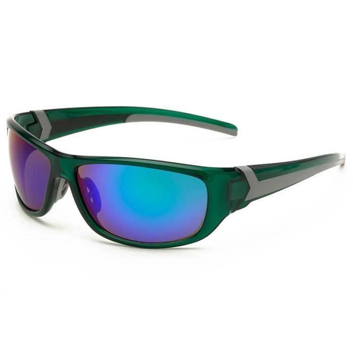 c5cc30f8173bae Cool Lunettes de Soleil Hommes Lunettes Solaires en Plein Air pour Sport  Voyage Pêche Golf Cyclisme Vélo Sunglasses UV400 Vert  3