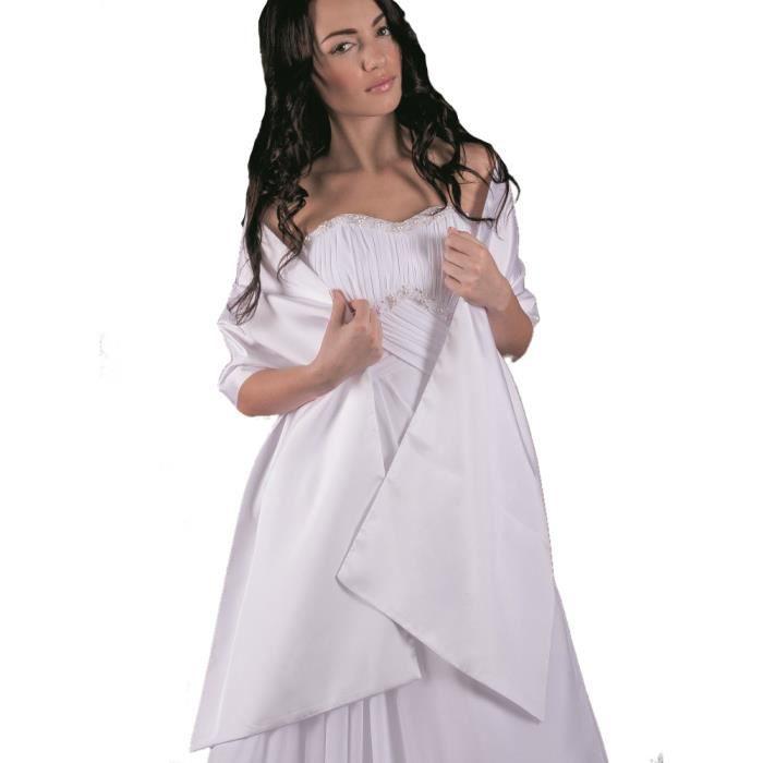 daeb087e6c5 Etole de cérémonie femme en satin - Achat   Vente echarpe - foulard ...