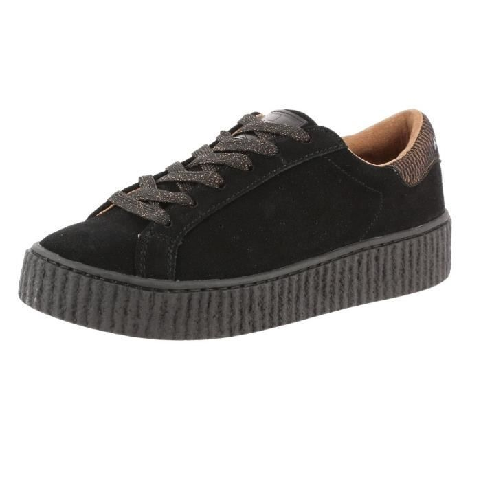 Femmes No Name Picadilly Creeper Sneaker Noir