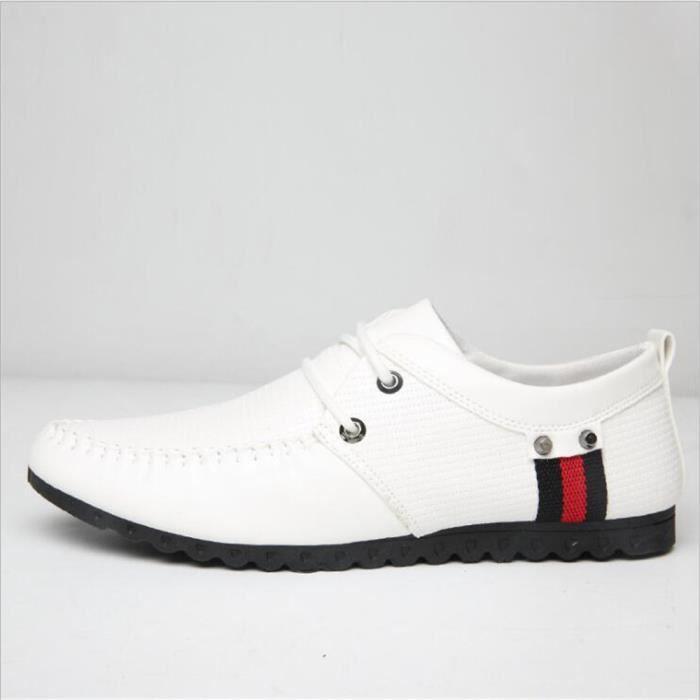 Moccasins hommes Qualité Supérieure De Marque De Luxe chaussure Confortable Respirant Chaussures2017 cuir Plus Taille