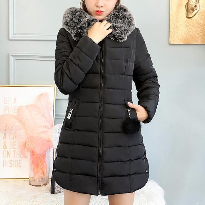 Thicker Outwear App10474 Longue Manteau À Slim Veste Coton Femmes Col Chaud Capuchon Fourrure Parka De qz4nwEBx6