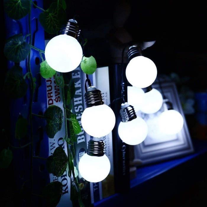 De Perles Chaîne Mariage Décor Féerique Lampe Led Solaire Ampoule Cordes Sky212 8Xqf6