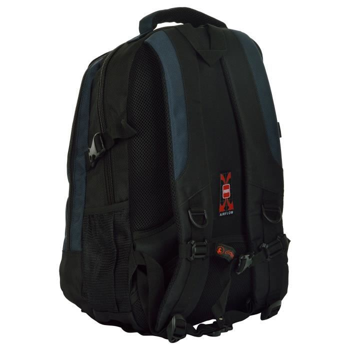 Homme 25 Litres en nylon noir et bleu 15,6 Premium Quality Sac à dos pour ordinateur portable Preuve eau (ch_bag1833d N90R4