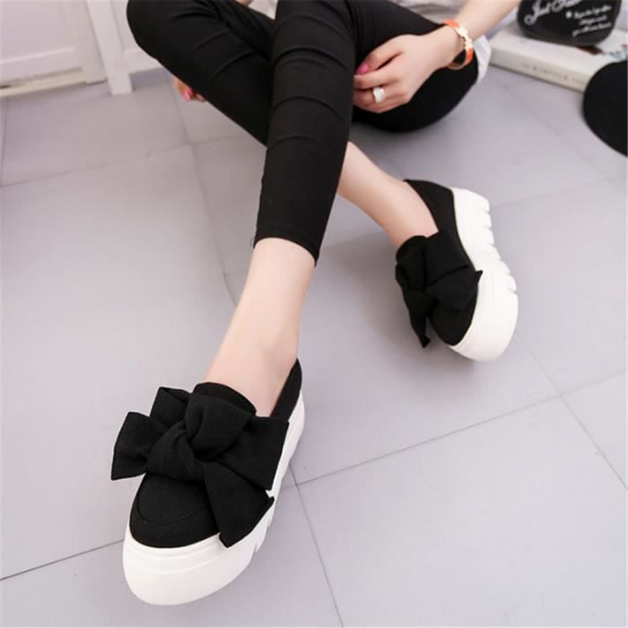Moccasins femmes Qualité Supérieure ete Marque De Luxe Loafer Confortable Durable Chaussures de plate-forme Plus GxQlp