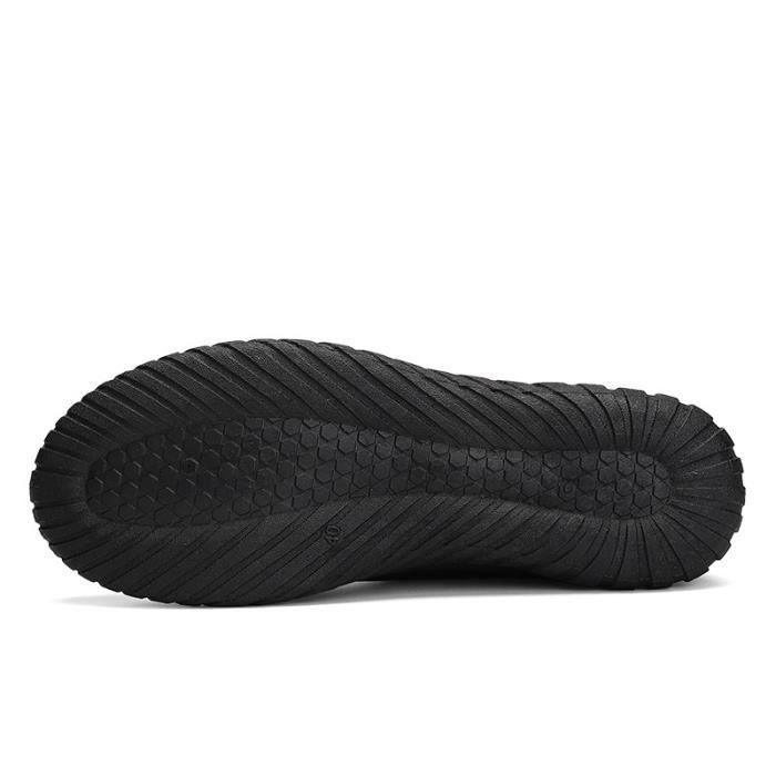 chaussures multisport Mixte Lovers mocassins sport loisir étudiants en cuir d'été noir taille5.5