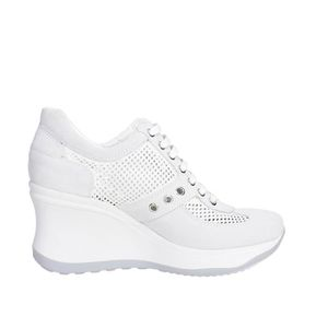Blanc Sneakers 40 Femme Agile By Rucoline Haute Bw1HRq