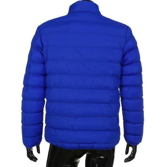 Couleur Bas Parka Slim 4 Ciel Chaud Le Les Survêtement Manteau Épais D'hiver Bleu Libaib Décontracté Hommes Vers wU6WYH