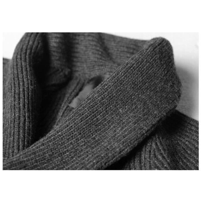 Luxe Matelasse Gris Vêtement Marque Revers Homme D'automne noir Maille De Vêtements Pull Masculin En qatZFqA
