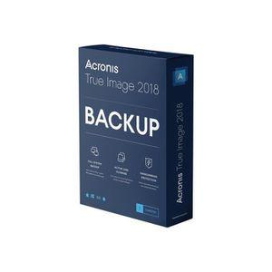 BUREAUTIQUE Acronis True Image 2018 Licence 1 ordinateur téléc