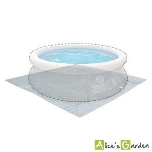 BÂCHE - COUVERTURE  Tapis de sol gris 330 x 330 cm pour piscine ronde