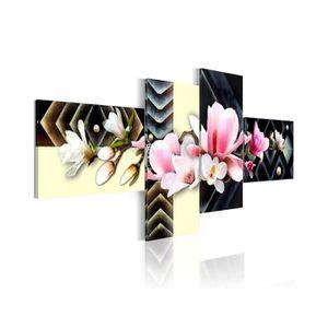 TABLEAU - TOILE Tableau Orchidée Moderne - Dimension - 100x45.