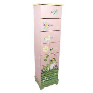 COMMODE DE CHAMBRE Commode en bois avec 7 tiroirs pour chambre enfant