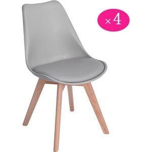 CHAISE Lot of 4 chaises scandinave design contemporain no d439dfd16ddd