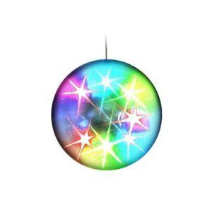 BOULE A FACETTES LAMPE BOULE LUMINEUSE ECLAIRAGE 360° 48 LED EFFET