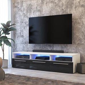 MEUBLE TV LAVELLO - Meuble TV / Meuble salon - 140 cm - blan
