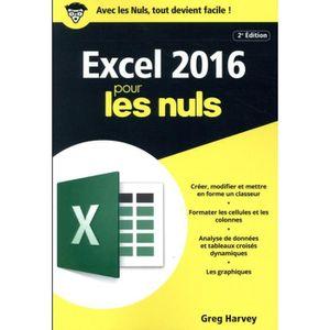 LIVRE INTERNET Livre - Excel 2016 pour les nuls (2e édition)